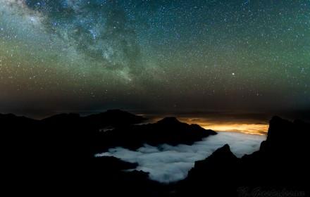 The Milky Way over the Caldera de Taburiente