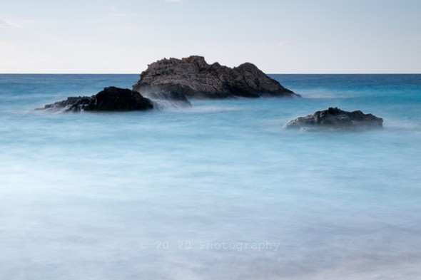 Misty Peaks - Long exposure photography of the Ionian Sea.