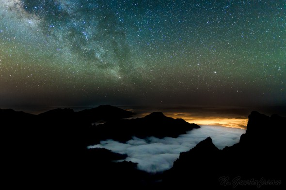 The Milky Way over the Caldera de Taburiente